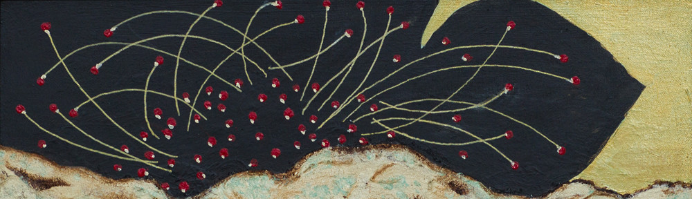Black Lotus, Acrylic, 16×20