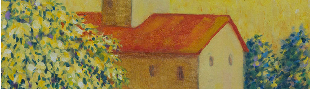 Monastery, Oil, 16 x 20