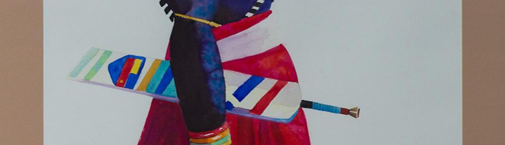 Warrior, Watercolor, 27×45